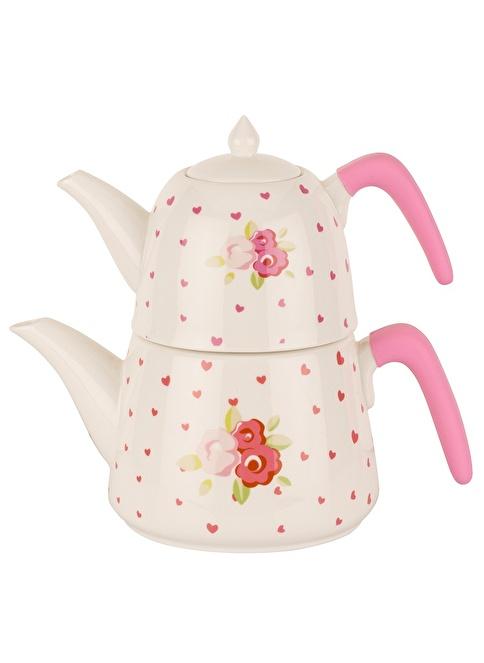 Tantitoni Porselen Pink Rose Çaydanlık Takımı Renkli